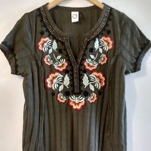 Anthropologie Tops - Anthropologie Akemi + Kin Embroidered Top Size S
